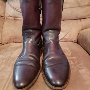MENS FRYE dress boots Pecos style